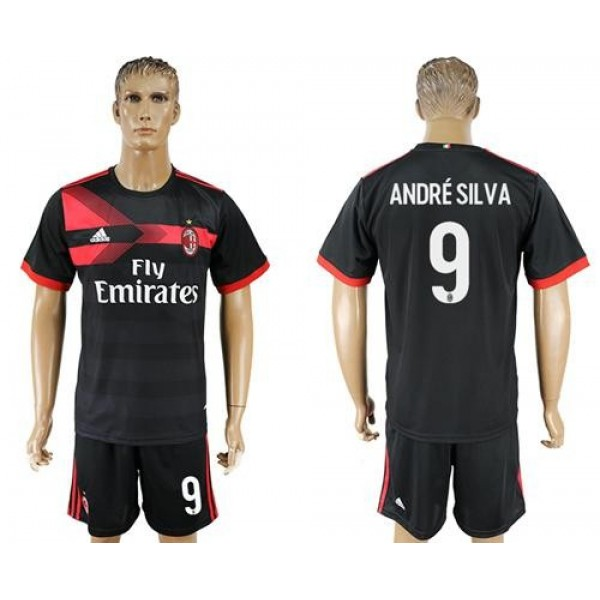 AC Milan #9 Andre Silva Away Soccer Club Jersey