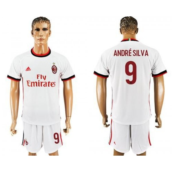 AC Milan #9 Andre Silva White Soccer Club Jersey