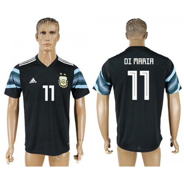 Argentina #11 Di Maria Away Soccer Country Jersey