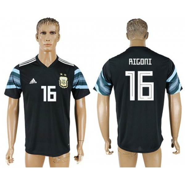 Argentina #16 Rigoni Away Soccer Country Jersey
