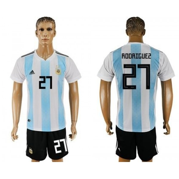 Argentina #27 Rodriguez Home Soccer Country Jersey