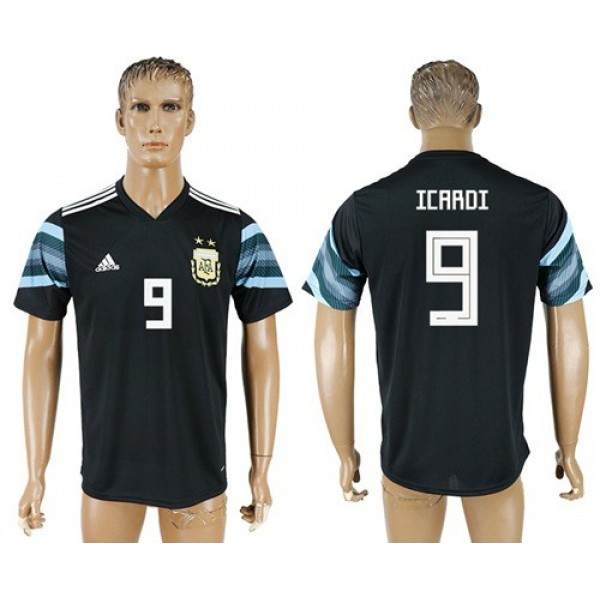 Argentina #9 Icardi Away Soccer Country Jersey