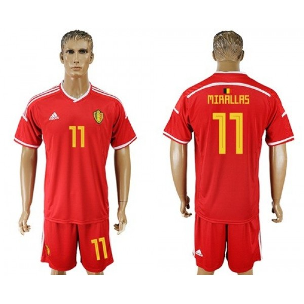 Belgium #11 Mirallas Red Home Soccer Country Jersey
