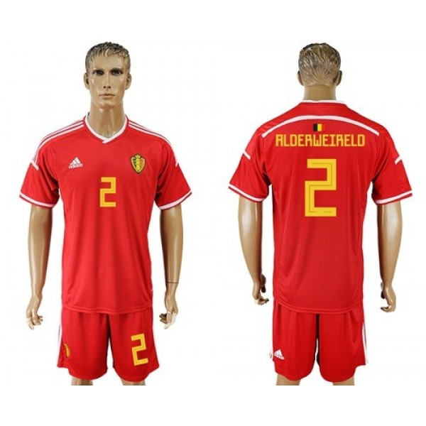 Belgium #2 Alderweireld Red Home Soccer Country Jersey