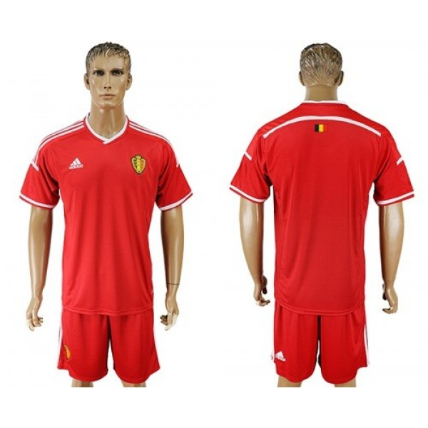 Belgium Blank Home Soccer Country Shorts Jersey