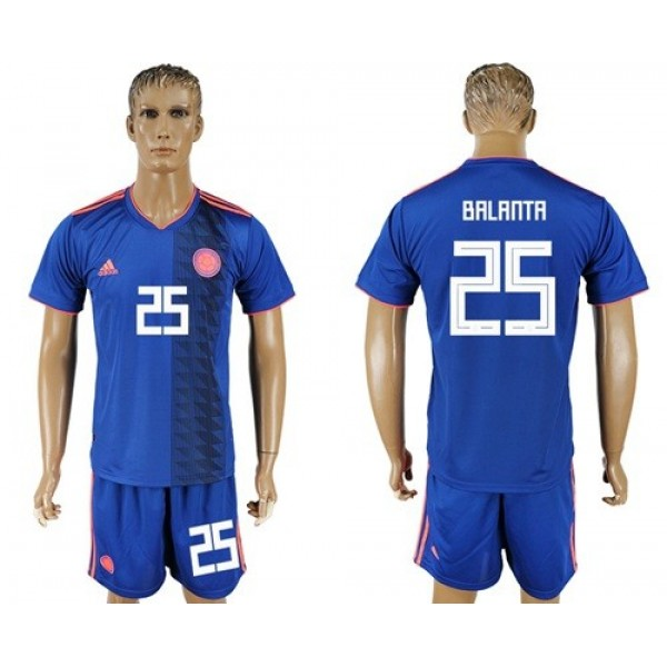 Colombia #25 Balanta Away Soccer Country Jersey