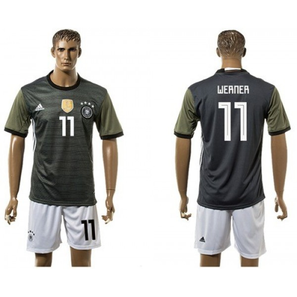 Germany #11 Werner Away Soccer Country Jersey