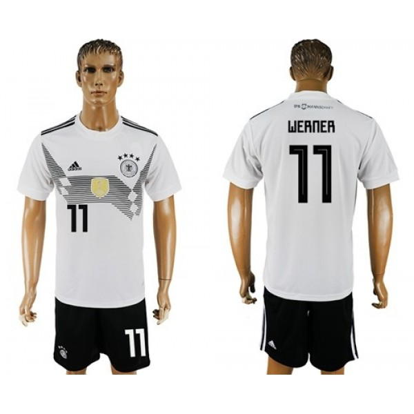 Germany #11 Werner White Home Soccer Country Jersey