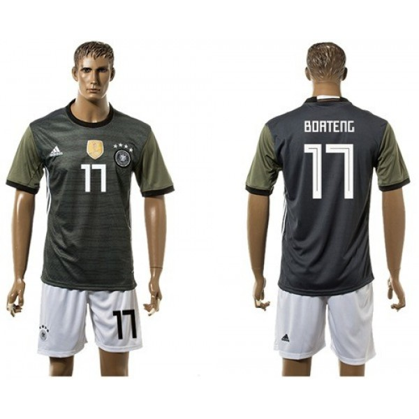 Germany #17 Boateng Away Soccer Country Jersey