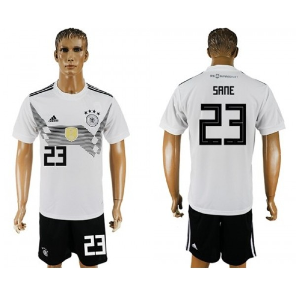 Germany #23 Sane White Home Soccer Country Jersey