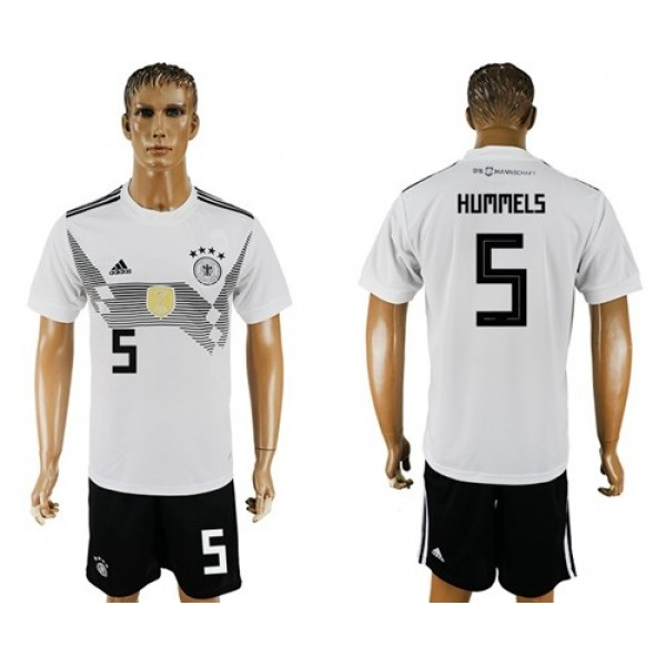 Germany #5 Hummels White Home Soccer Country Jersey