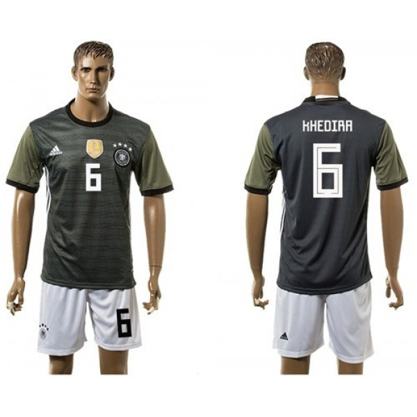 Germany #6 Khedira Away Soccer Country Jersey