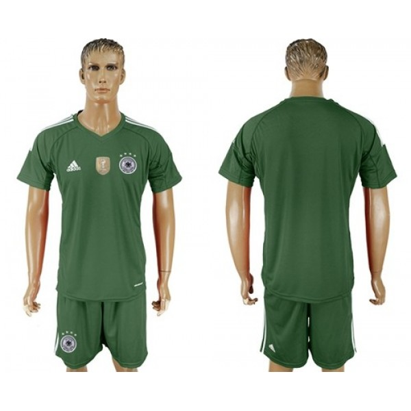 Germany Blank Army Green Goalkeeper Soccer Country Jersey
