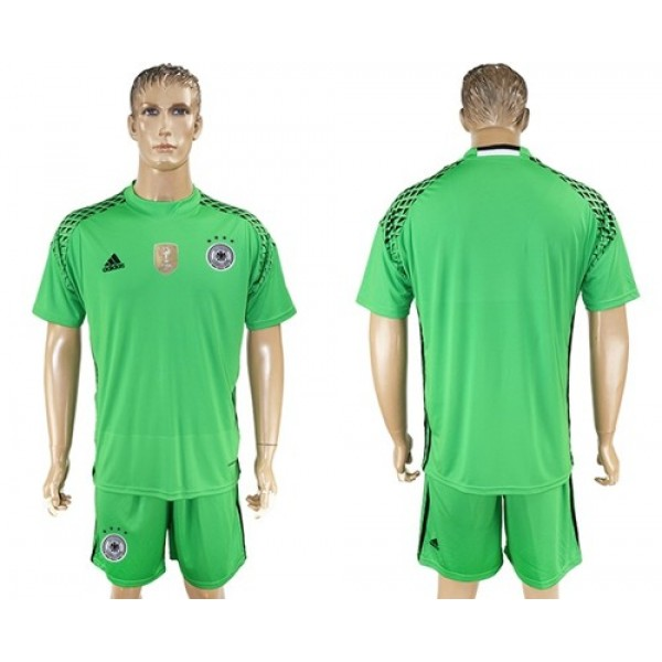 Germany Blank Green Goalkeeper Soccer Country Jersey
