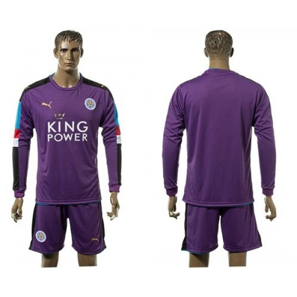 Leicester City #1 Schmeichel Black Goalkeeper Long Sleeves Soccer Club Jersey