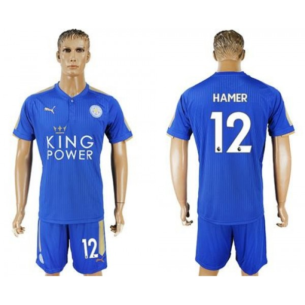 Leicester City #12 Hamer Home Soccer Club Jersey