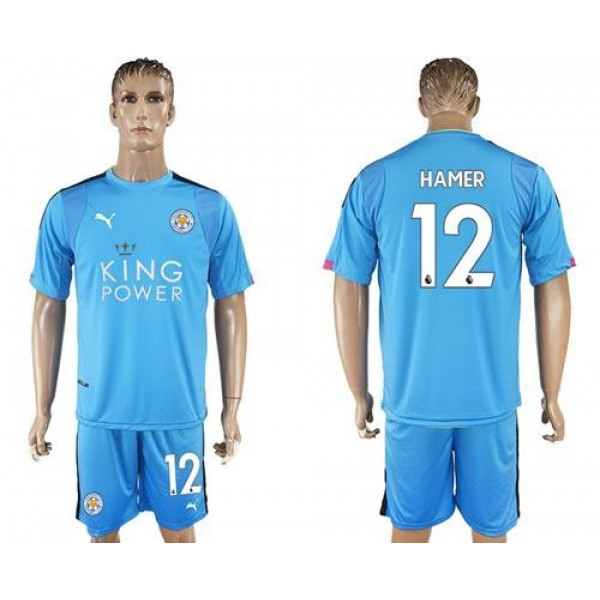 Leicester City #12 Hamer Light Blue Goalkeeper Soccer Club Jersey