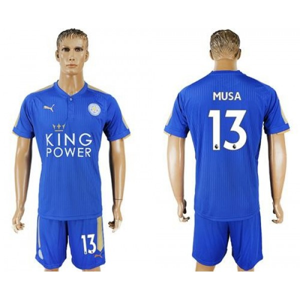 Leicester City #13 Musa Home Soccer Club Jersey