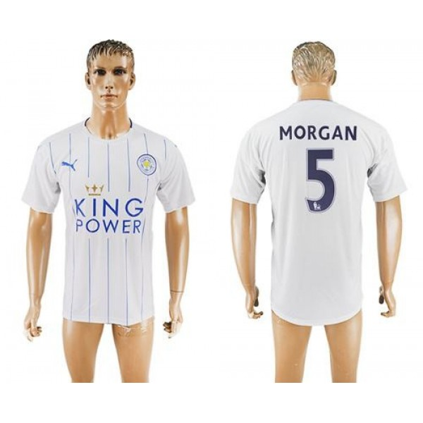 Leicester City #21 Iborra Home Long Sleeves Soccer Club Jersey