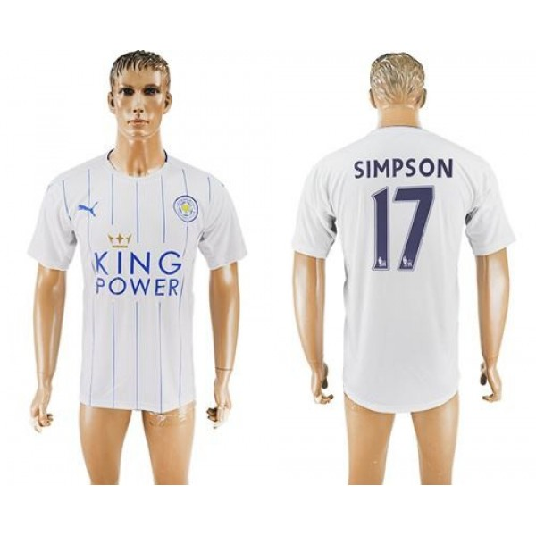 Leicester City #23 Ulloa Home Long Sleeves Soccer Club Jersey