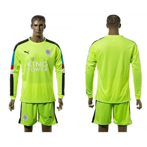 Leicester City #26 Mahrez Home Long Sleeves Soccer Club Jersey
