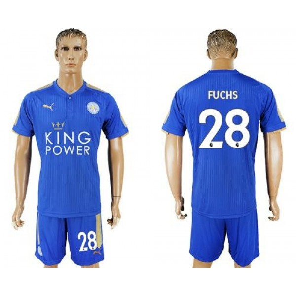 Leicester City #28 Fuchs Home Soccer Club Jersey