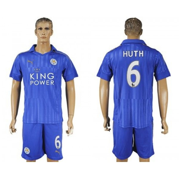 Leicester City #5 Morgan Home Long Sleeves Soccer Club Jersey