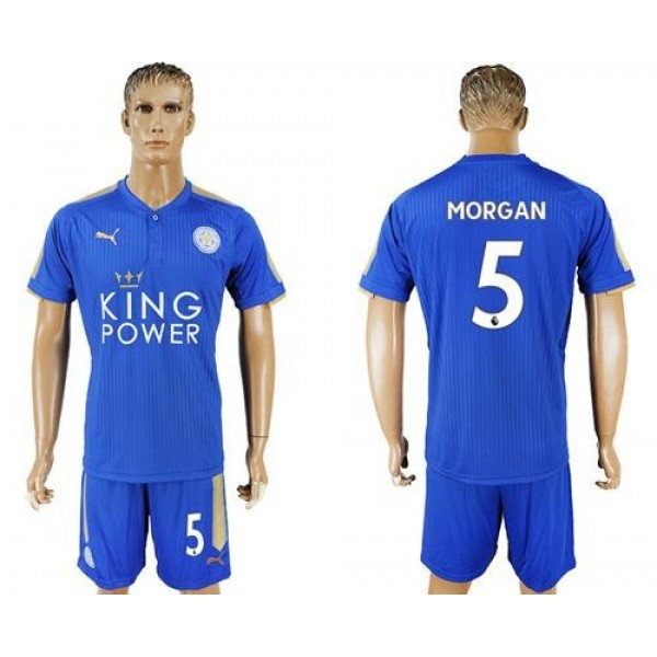 Leicester City #5 Morgan Home Soccer Club Jersey