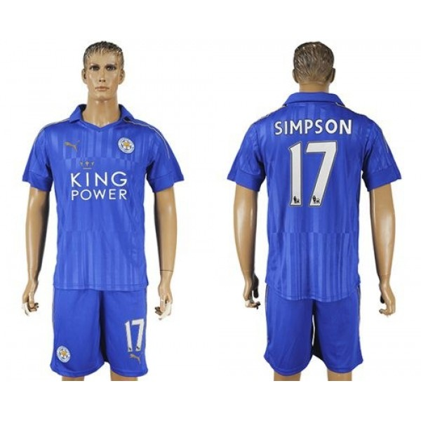 Leicester City #6 Huth Home Long Sleeves Soccer Club Jersey