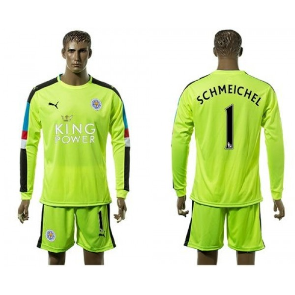 Leicester City Blank Black Goalkeeper Long Sleeves Soccer Club Jersey