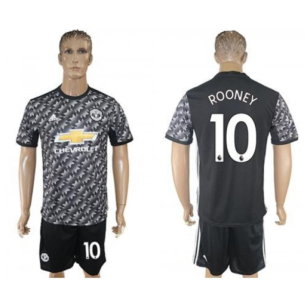 Manchester United #10 Rooney Black Soccer Club Jersey