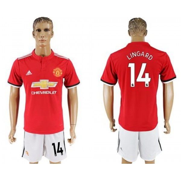Manchester United #14 Lingard Red Home Soccer Club Jersey