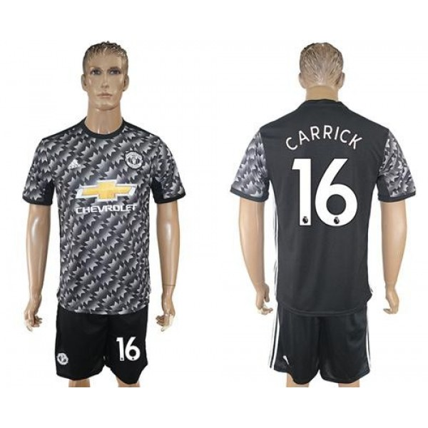 Manchester United #16 Carrick Black Soccer Club Jersey