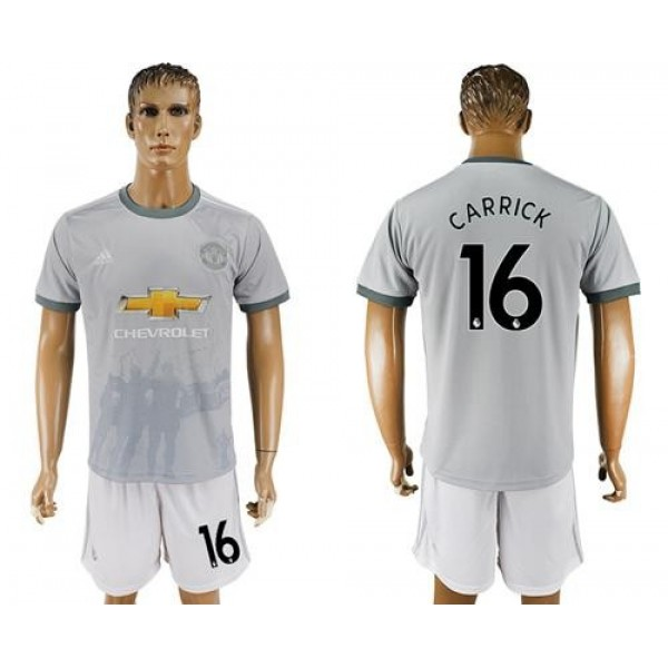 Manchester United #16 Carrick Sec Away Soccer Club Jersey
