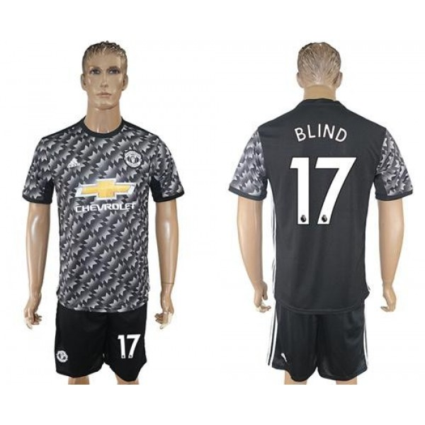Manchester United #17 Blind Black Soccer Club Jersey