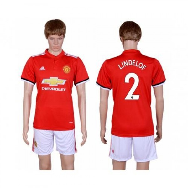 Manchester United #2 Lindelof Red Home Soccer Club Jersey