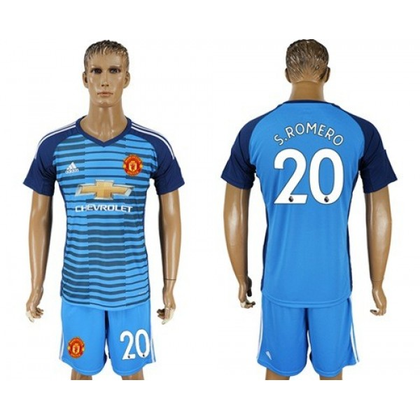 Manchester United #20 S.Romero Blue Soccer Club Jersey