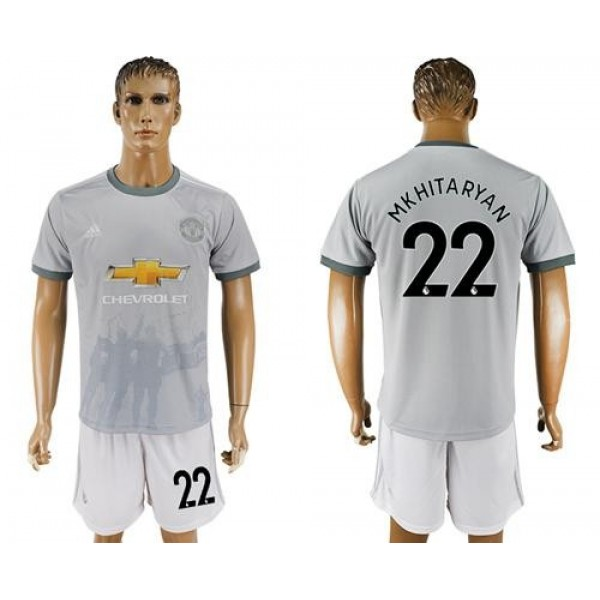 Manchester United #22 Mkhitaryan Sec Away Soccer Club Jersey