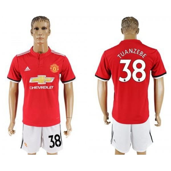 Manchester United #38 Tuanzebe Red Home Soccer Club Jersey