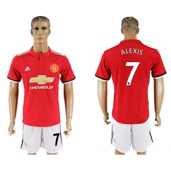 Manchester United #7 Alexis Home Soccer Club Jersey