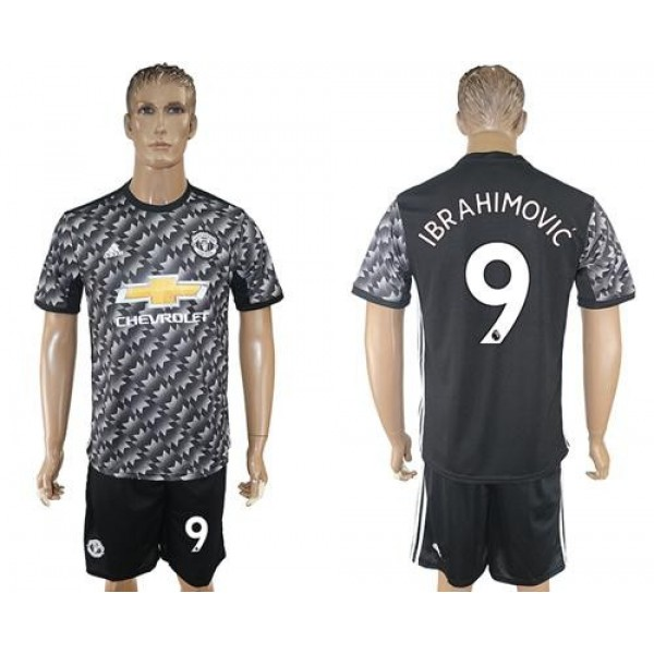 Manchester United #9 Ibrahimovic Black Soccer Club Jersey