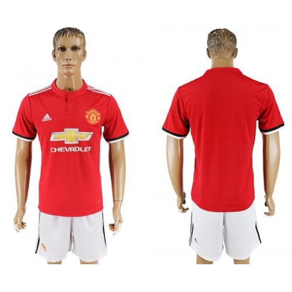Manchester United Blank Red Home Soccer Club Jersey