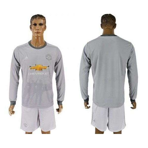 Manchester United Blank Sec Away Long Sleeves Soccer Club Jersey