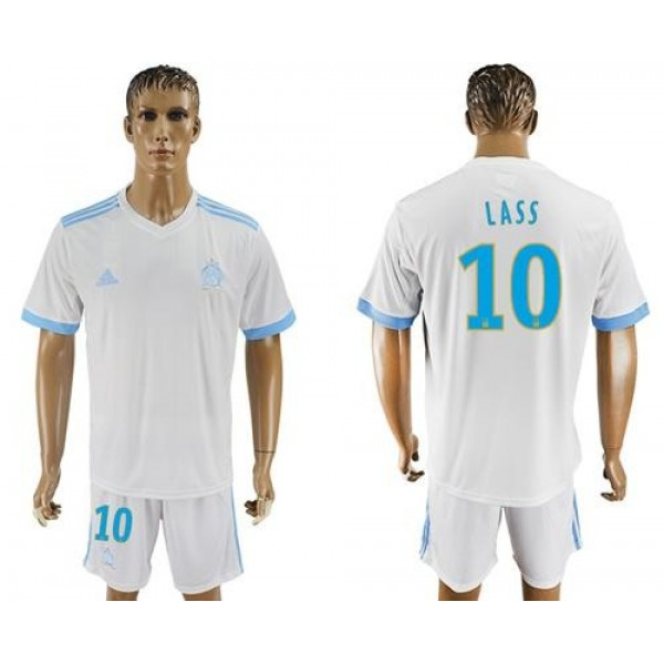 Marseille #10 Lass Home Soccer Club Jersey