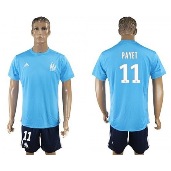Marseille #11 Payet Away Soccer Club Jersey