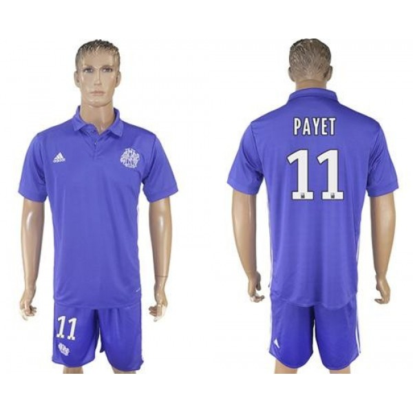 Marseille #11 Payet Sec Away Soccer Club Jersey
