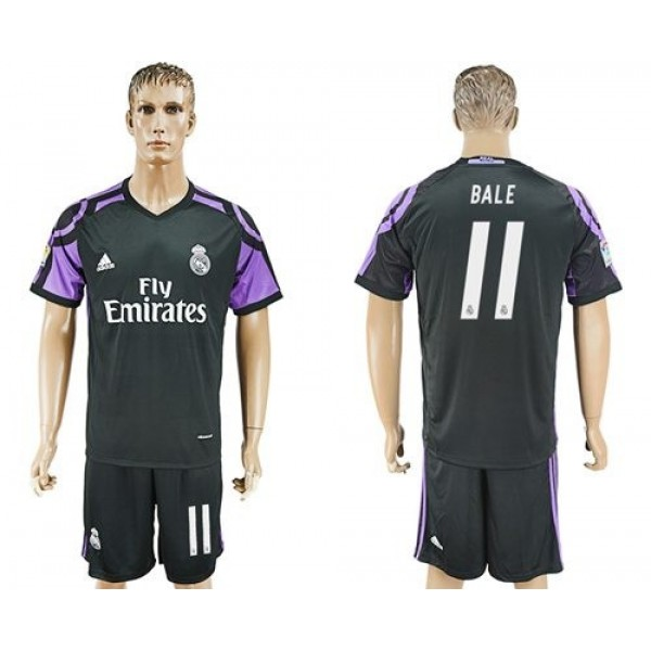 Real Madrid #11 Bale Sec Away Soccer Club Jersey