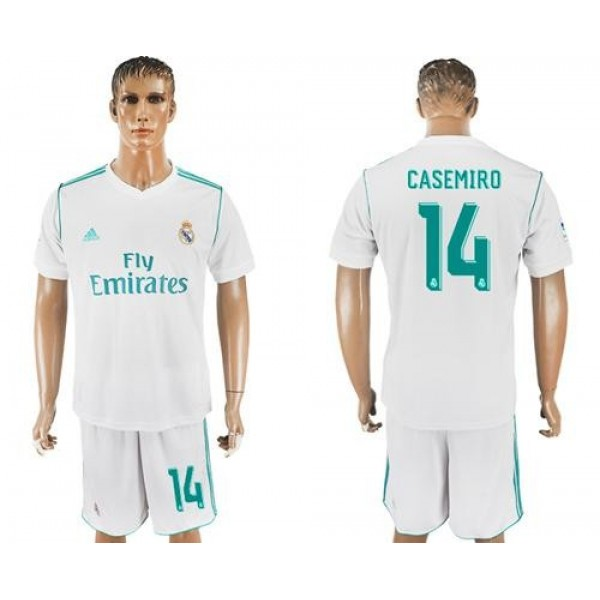 Real Madrid #14 Casemiro White Home Soccer Club Jersey