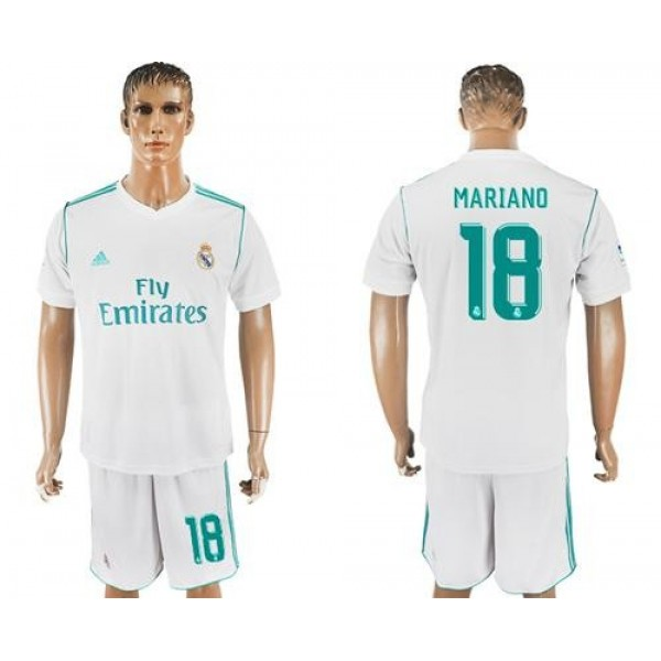 Real Madrid #18 Mariano White Home Soccer Club Jersey