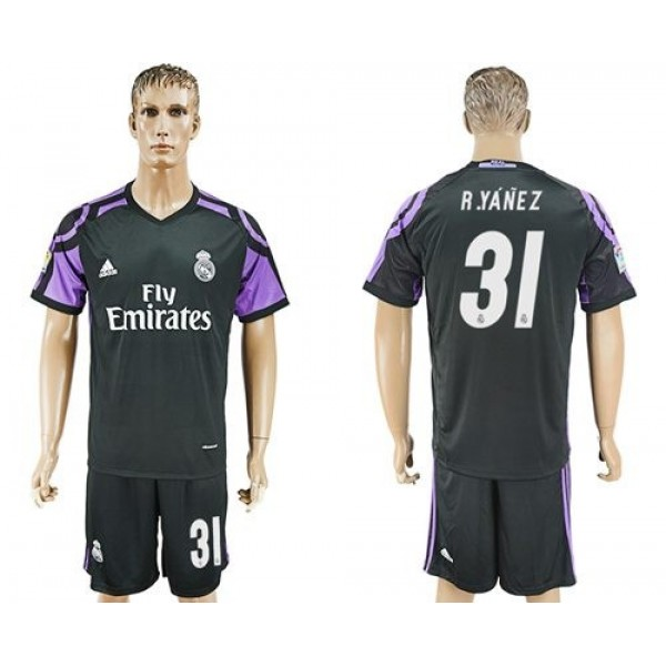 Real Madrid #31 R.Yanez Sec Away Soccer Club Jersey